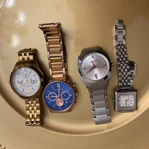Accessories - 4 Watches 2 MK. 1 fossil l. 1 DKNY